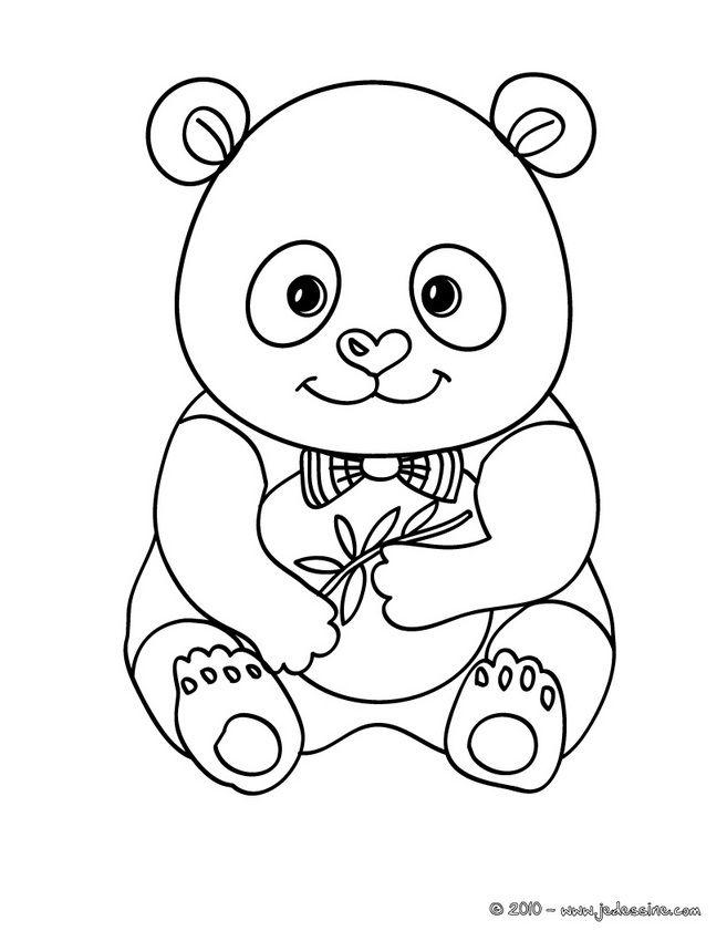 Coloriage d\'un bébé PANDA | My Coloring Pages | Pinterest | Panda ...
