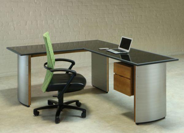 Stone Top L Shape Corner Desk With Return L Shaped Corner Desk Office Furniture Modern Steel Desk
