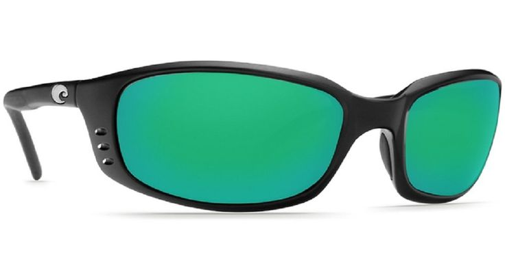 Costa Del Mar Brine Sunglasses, Black, Green Mirror 580Plastic Lens