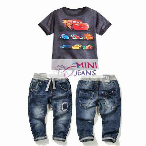 Setelan anak laki-laki import cars ripped jeans umur 1-2-3-4-5-6 tahun - http://keikidscorner.com/baju-anak-laki-laki/baju-setelan/setelan-anak-laki-laki-import-cars-ripped-jeans-umur-1-2-3-4-5-6-tahun.html