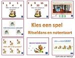 7 verschillende spelletjes - ritseldans en notentaart