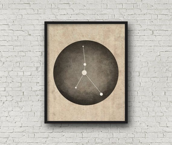 Zodiac Sign Cancer Constellation Cancer Art by blackandthemoon