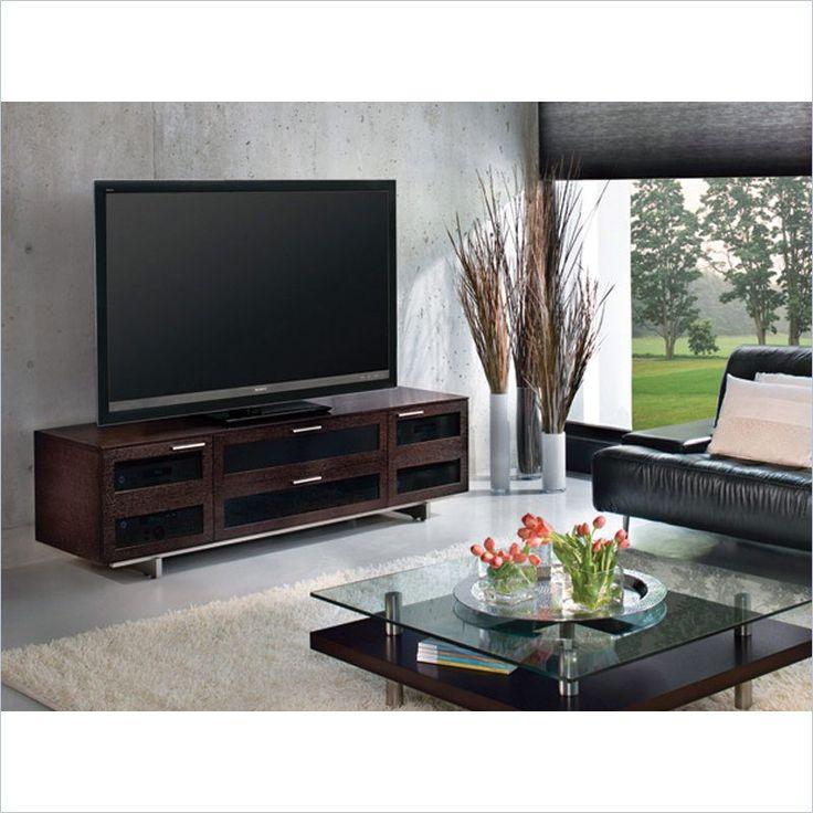bdi avion ii flat panel cabinet tv stand in espresso stained oak es