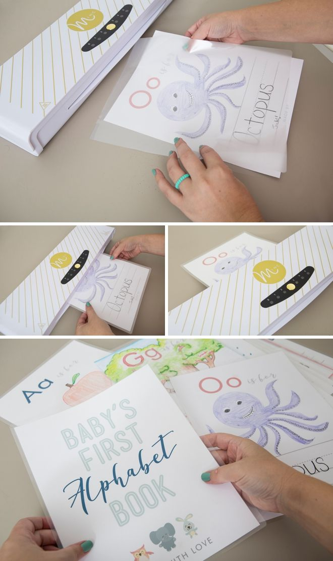 This Free Printable Baby S First Alphabet Book Is The Cutest Baby Shower Activities Baby Shower Book Baby Books Diy