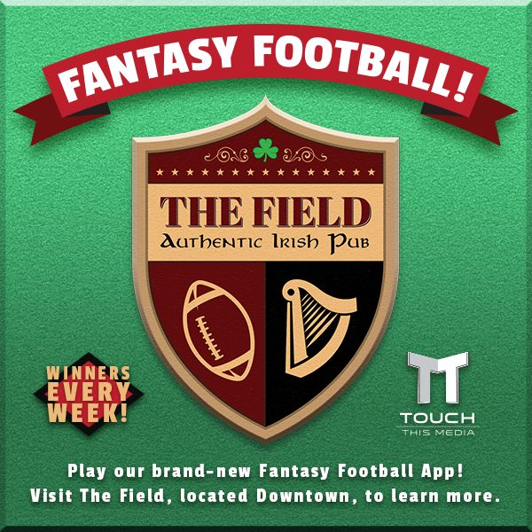 Following up with their coverage on ESPN's Monday Night football, The Field (Authentic Irish Pub) is back with a brand-new FANTASY FOOTBALL APP, developed in association with Touch This Media. Visit The Field (Located: 544 5th Ave, San Diego, CA 92101) to learn more. #fantasyfootball #football #game #app #thefieldsandiego #irishpub #gaslamp #sandiego #touchthismedia