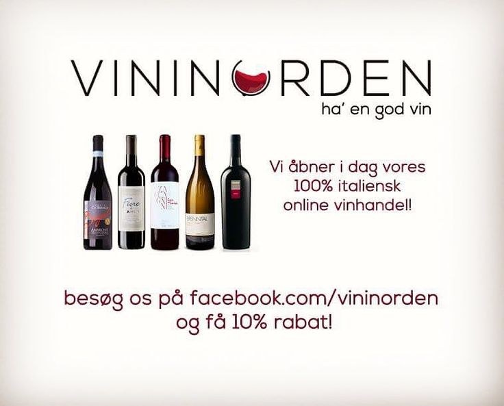Vidste du det? Vores nye vinhandel er nu online! Kom og besøg os vi har nogle af de bedste italienske vine!@vininorden #wine #wineshop #website #webshop #wineshopathome #betterwine #wineonline #goodwine #italiensk #vin #rødvin #godvin #hvidvin #rosévin #sødvin #tørvin #butik #københavn #aarhus #billund #odense #vininorden #pin #tw #hygge #smag #glæde #vin #shop #butik