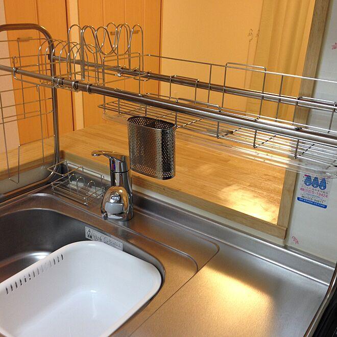 使いやすく 水切りラック 狭いキッチン 一人暮らし 食器のインテリア実例 2016 08 10 15 25 17 Roomclip ルームクリップ キッチン 一人暮らし 狭い キッチン 一人暮らし 食器