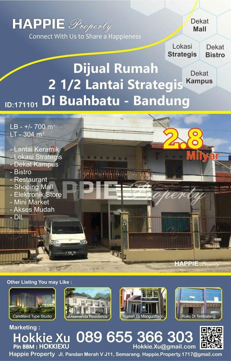 Rumah Dijual Di Buahbatu Bandung Hub - 089655366303 Available on WhatsApp Pin BBM - HOKKIEXU