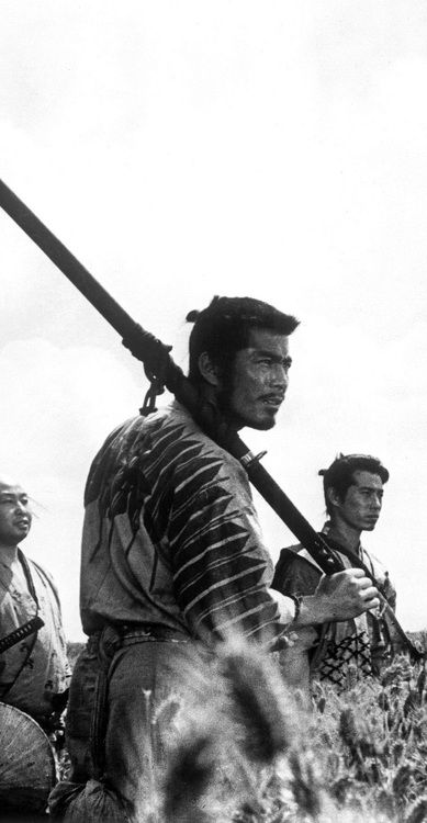 Seven Samurai. Great movie and also the influence for another favorite of mine, The Magnificent Seven.