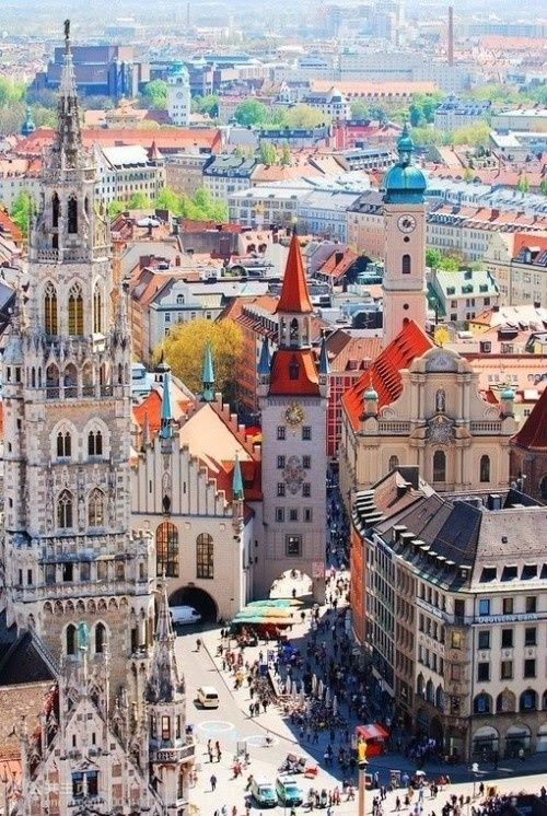 The city of Munich. Probably most famous for the annual Oktoberfest, but we've heard the food's pretty spot on, too. (Photo via Ruby Mitchell on Pinterest)