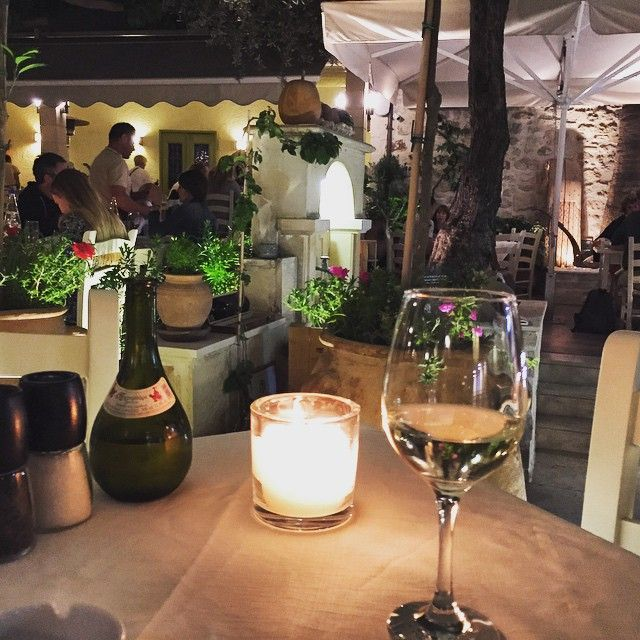 A glass of #wine to start dining! #AlanaRestaurant #Rethymno #SeenAtAlana