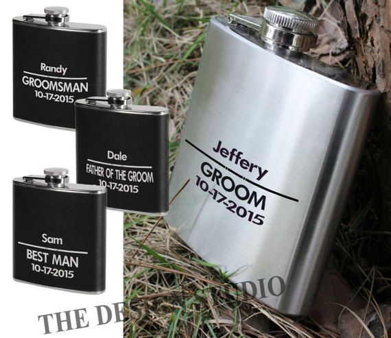 Personalized Flask vinyl decals. Sold in sets or by just one. (Drop down menu at check out)  The perfect add-on to customize any Flask. Dont