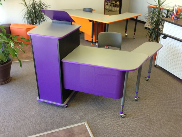 Modern Classroom Seating : Paragon a d teacher podium and desk with adjustable tablet