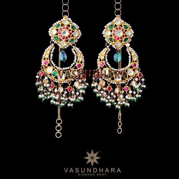 Lovely kundan earrings