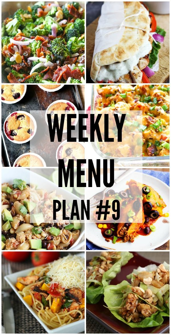 Weekly Menu Plan #9