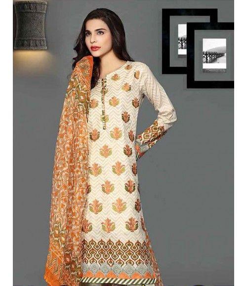 Rangrasiya Embroidered Lawn Collection 2016 D-11006B