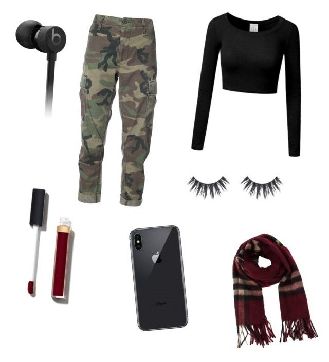 """""""Untitled #6"""" by jasmimosa ❤ liked on Polyvore featuring RE/DONE, Beats by Dr. Dre, Chanel and Burberry"""