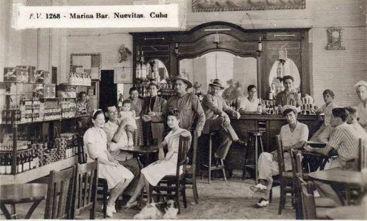 Cuba 1930s Camaguey, Nuevitas  Marina Bar.