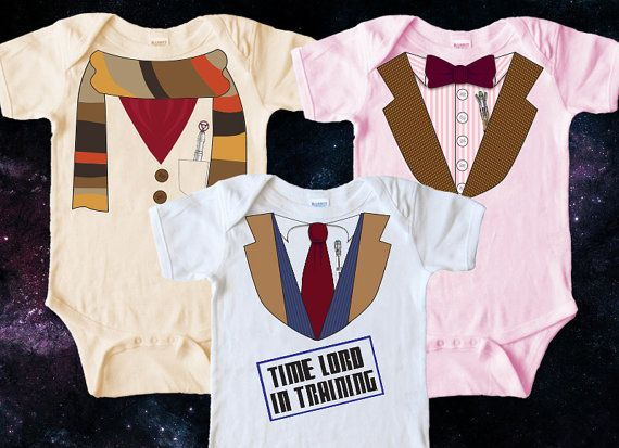 Doctor Who Baby Clothes DIY Iron on Transfer by PanicPrintables