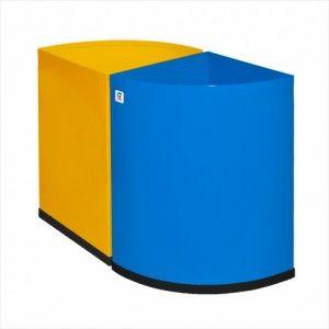 Papelera metálica selectiva con cubeta extraible para su cómodo vaciado. A la venta en http://www.mueblesaciertos.com/papeleras/977-papelera-metalica-p-25.html