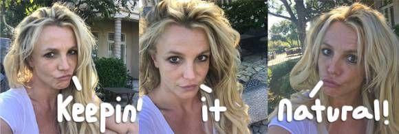 britney spears bare faced selfie instagram