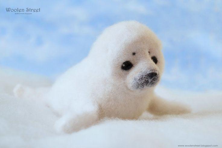 Маленький тюлень от Woolen Street • Мастерская войлочных игрушек