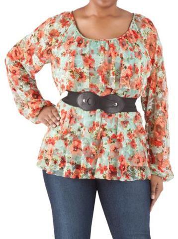 Combinación de pantalon para gordita mas blusa. http://aix0.com/guapasygorditas/index.php/pantalones-de-vestir-para-gorditas/