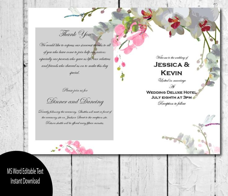 Best 25+ Wedding program template word ideas on Pinterest - program templates word