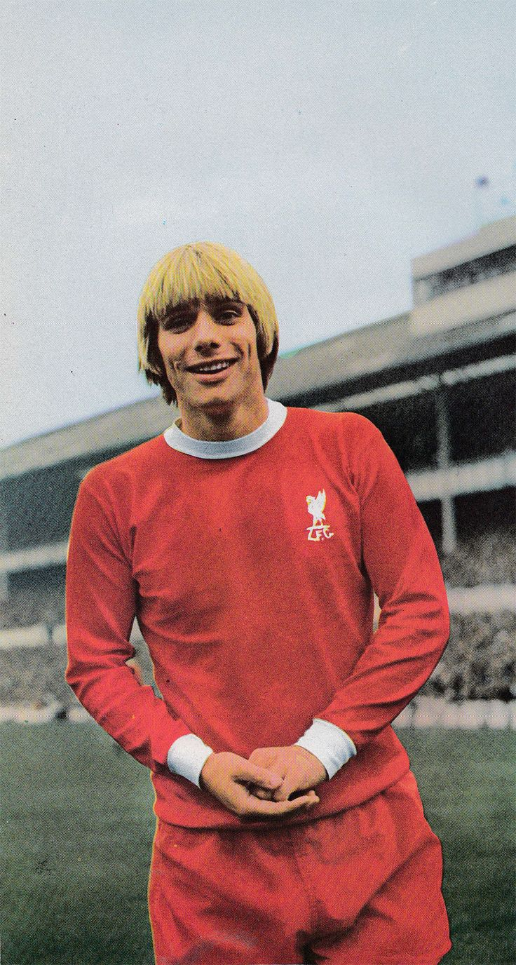 10th October 1970. Liverpool centre forward Alun Evans pictured prior to the match against Tottenham Hotspur, at White Hart Lane.