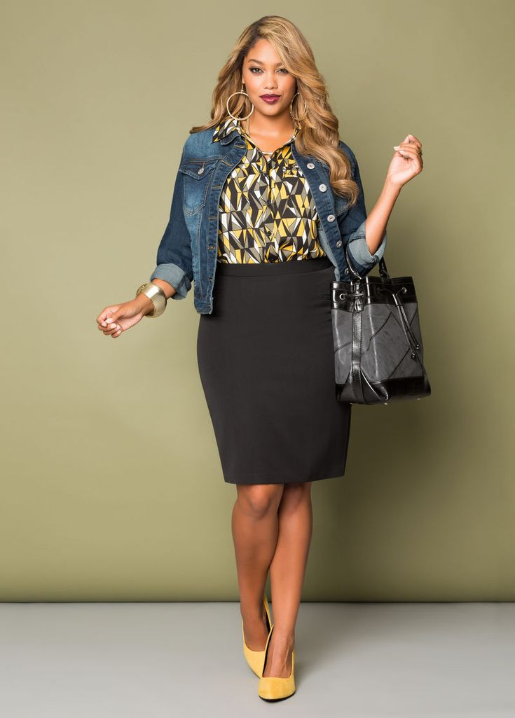 The Curvy Fashionista | Plus Size Suiting and Wear to Work Options with Ashley Stewart: Casual Cutie