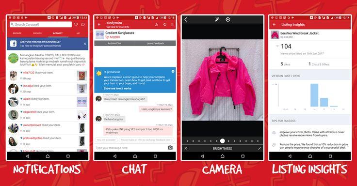Pengalaman jualan barang preloved fashion wanita secara online pakai smartphone dengan mobile apps Carousell.