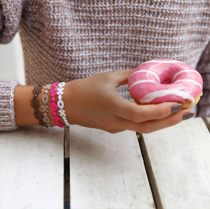Cruciani Four-leaf Clover, Heartbeat and XOXO bracelets