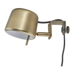IKEA - VARV, Clamp spotlight, , Easy to attach to the headboard for a reading light in your bed.As the light can be dimmed, you are able to choose lighting suitable for every occasion.Provides a directed light that is great for reading.Helps lower your electric bill because dimming the lights saves energy.