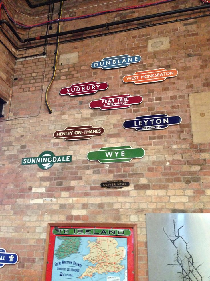 Tin signs at the National Railway Museum in York