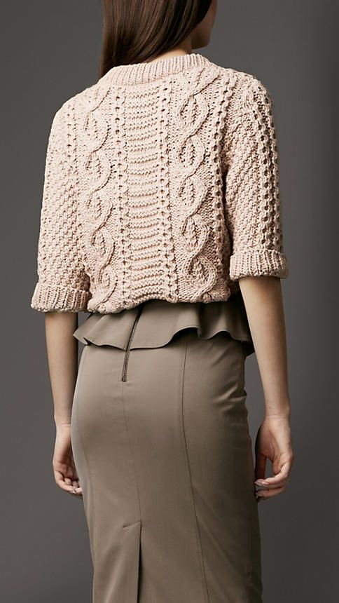 Cable Knit Sweater | Burberry...Wish I could find a pattern like this....its Gorgeous...