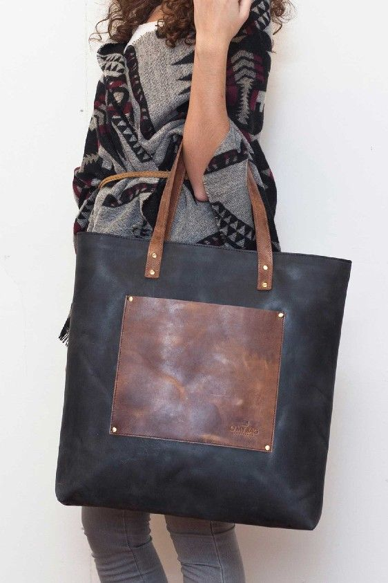 Lou's Big Bag in Leather - O My Bag - Brainy Days