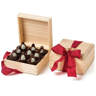 World's Finest Gourmet Handmade Chocolates- Burdick's Whimsical Signature Bonbons - Dark Chocolate Penguins -
