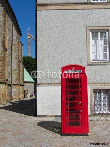 Inspirational Traditionelle rote englische Telefonzelle in der Innenstadt von Bielefeld in Ostwestfalen Lippe