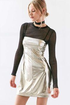 Shop: Silence + Noise Drita Metallic Shine Mini Dress