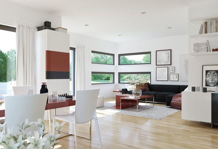 Modernes Wohnzimmer   Inneneinrichtung Haus Edition 4 V4 Bien Zenker    HausbauDirekt.de