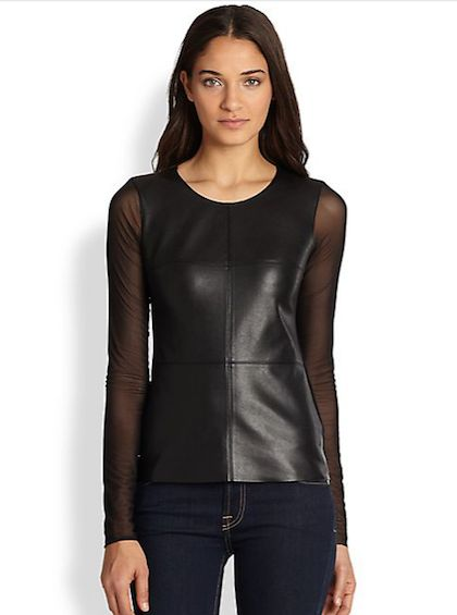 13 Leather Pieces Your Closet Needs Now: Faux leather top, $183.