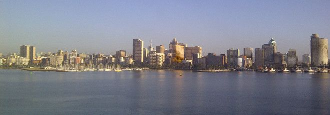 Durban harbour from the MSC Sinfonia