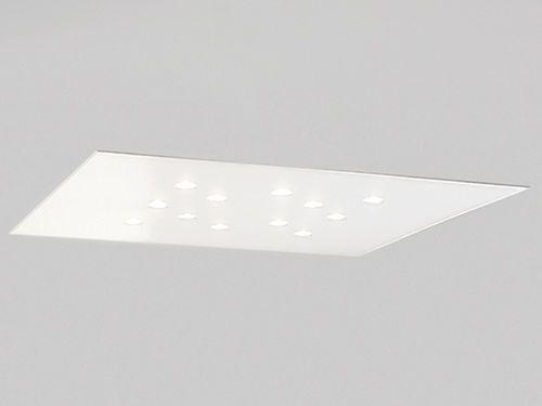 Plafoniera moderna rettangolare in alluminio led for Casa moderna rettangolare