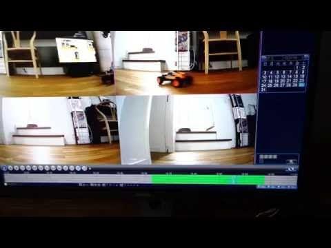 A-ZONE 4つのチャンネル 1080P HDセキュリティカメラシステムDVRキットW/4X HD 960P1.3MP防水ナイトビジョン