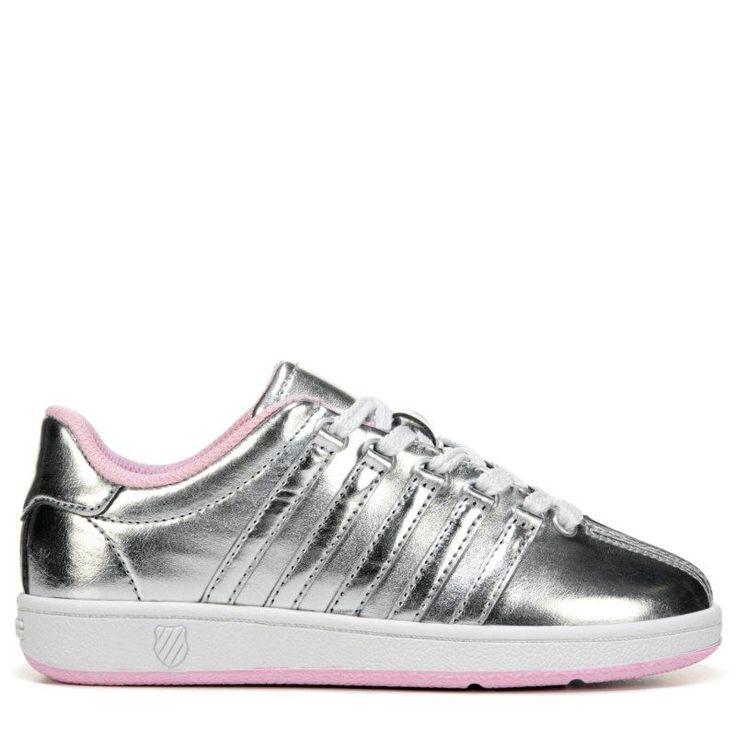 K-Swiss Kids' Classic VN Sneaker Preschool Shoes (Silver/Pink) - 10.5 M