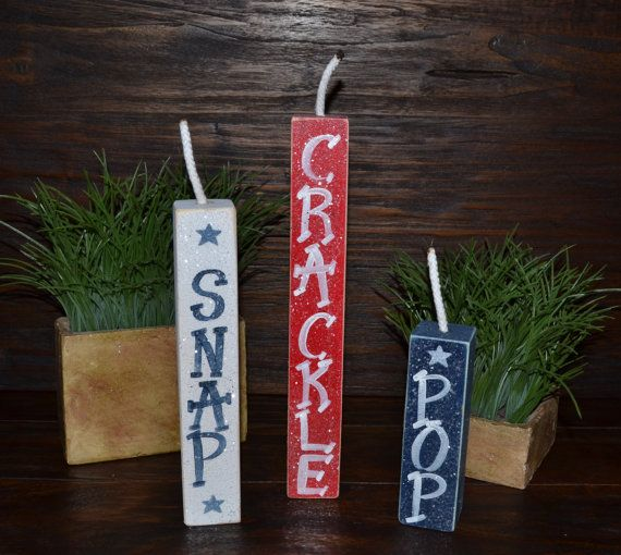 FirecrackerSnap Crackle & Pop 4th of July Decor by BlocksOfLove1, $12.99