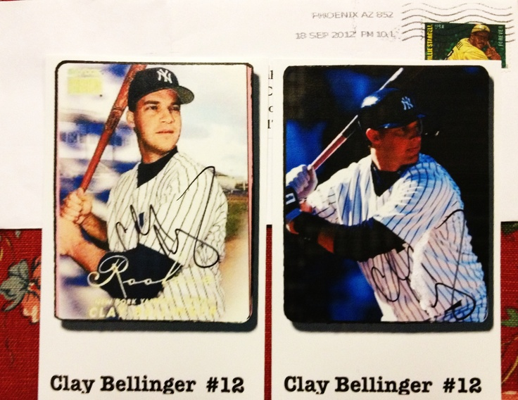 Clay Bellinger, 99 and 00 World Series Yankees OF, TTM