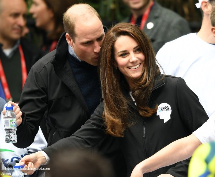 hrhduchesskate:  HeadsTogether Charity of the Year, 2017 Virgin Money London Marathon, April 23, 2017-William and Catherine