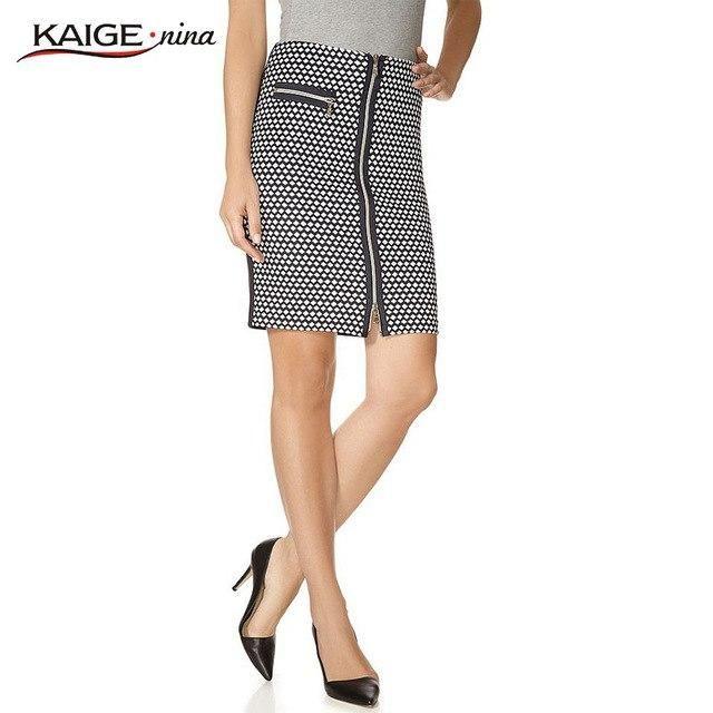 NAME YOUR OWN PRICE -KaigeNina New Fashion Hot Sale Women MIni Skirt Empire Pencil Pockets Knee-Length Geometric Miniskirt 1080