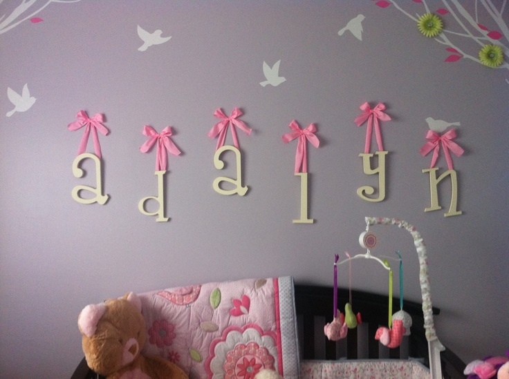 Letters for baby girl's room :)